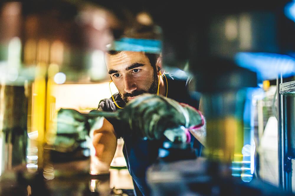 a repair man doing his job